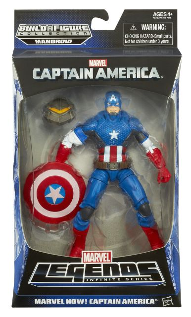 CAPTAIN AMERICA 6In INFINITE LEGENDS MARVEL NOW! CAPTAIN AMERICA In Pack A6222