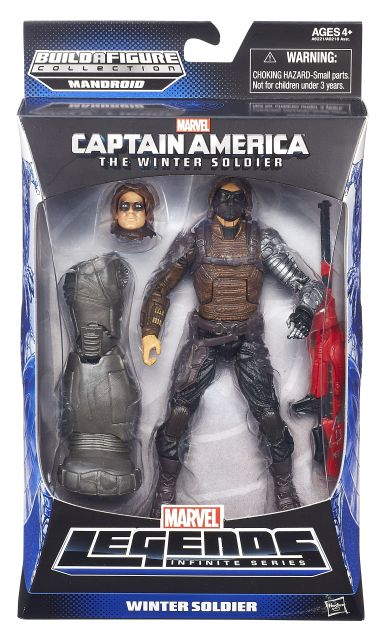 CAPTAIN AMERICA 6In INFINITE LEGENDS WINTER SOLDIER In Pack A6221