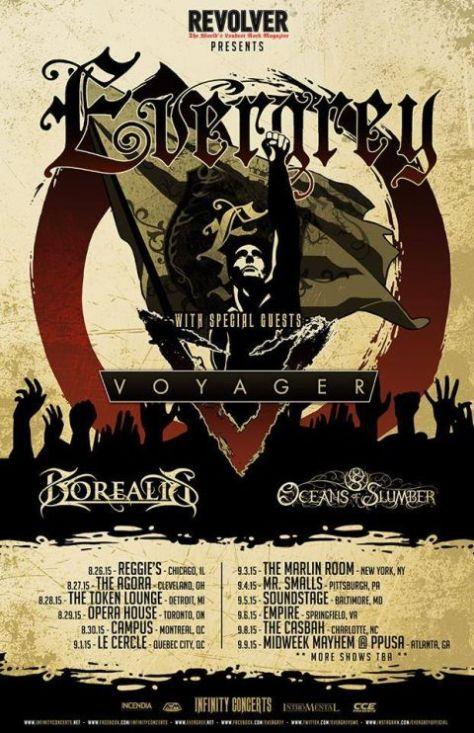 Tour - Evergrey - 2015