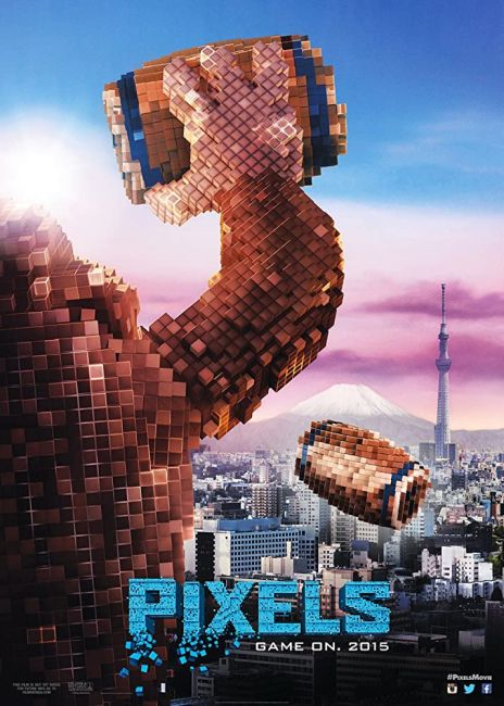 movie posters, promotional posters, sony pictures, pixels, pixels posters