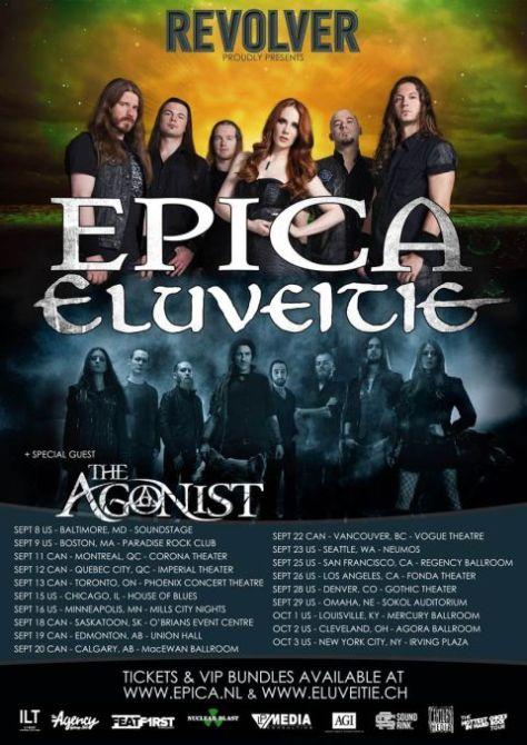 Tour - Epica Eluveitie - 2015