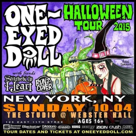 Poster - One Eyed Doll at Studio - 2015