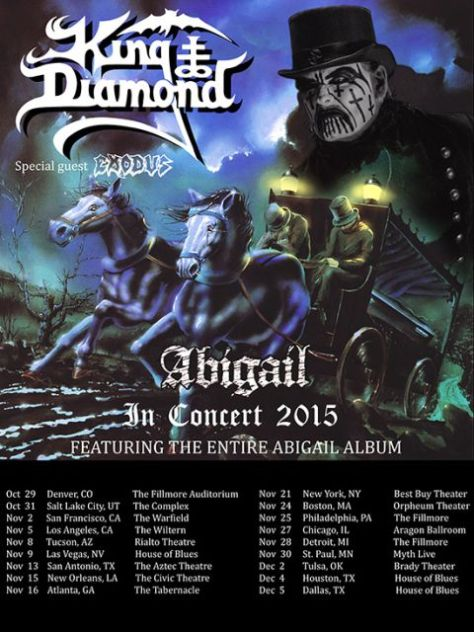Tour - King Diamond - Fall 2015