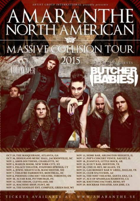 Tour - Amaranthe - Fall 2015