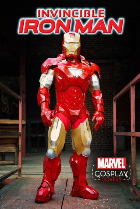 Invincible Iron Man #1 Cosplay Variant by Dale Oliver