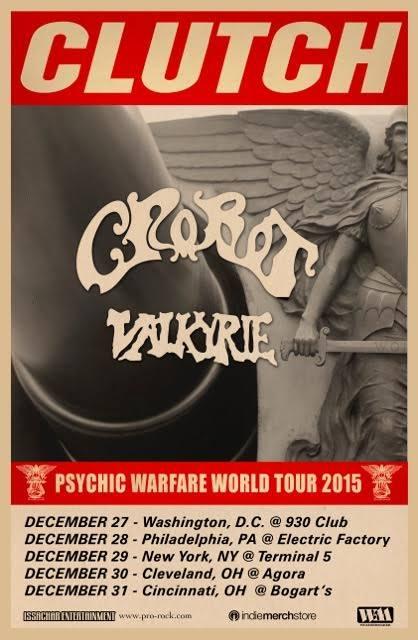 Poster - Clutch - Psychic Warfare 2015