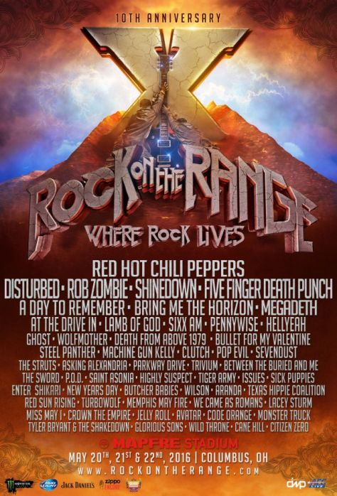 Tour - Rock On The Range - 2016