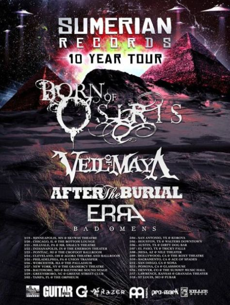 Tour - Born Of Osiris - Winter 2016