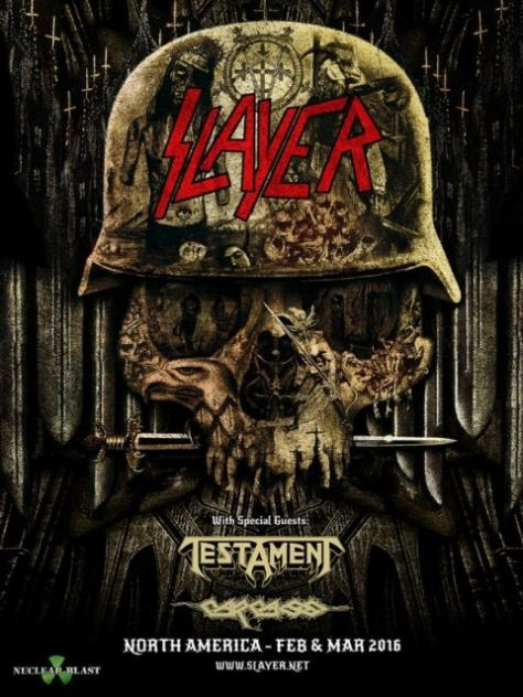 Tour - Slayer - Winter 2016