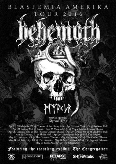 Tour - Behemoth - 2016