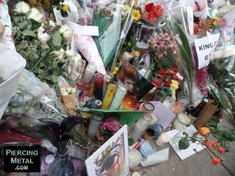 david bowie memorials, david bowie tributes