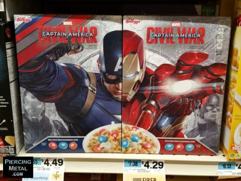 Cereal - Captain America Civil War - 2016