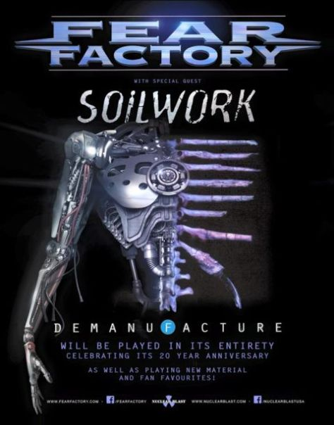 Tour - Fear Factory - Demanufacture 2016