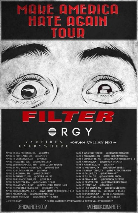 Tour - Filter - Make America Hate Again - 2016