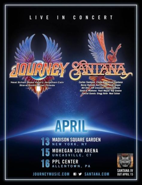 Tour - Journey and Santana - Winter 2016