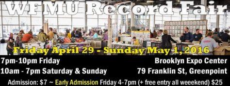 Banner - WFMU Record Fair - 2016