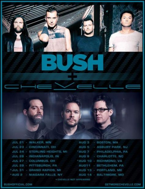Tour - Bush and Chevelle - Summer 2016