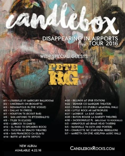 Tour - Candlebox - Disappearing In Airports - 2016
