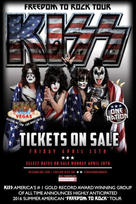 Tour - KISS - Freedom To Rock - 2016