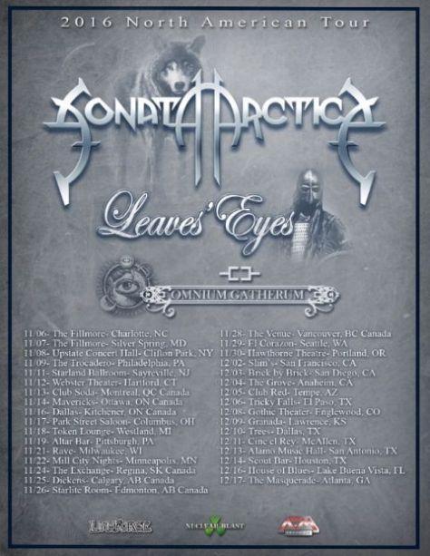 Tour - Sonata Arctica - Fall 2016