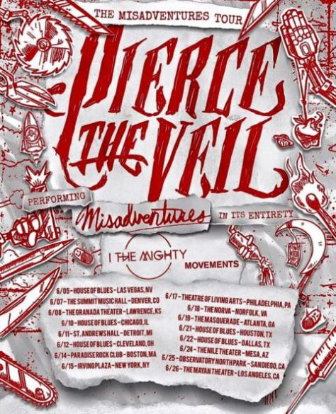 Tour - Pierce The Veil - Misadventures Tour 2016