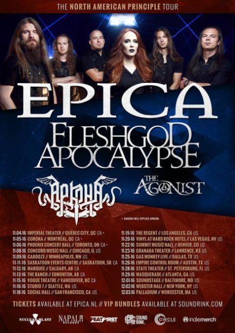 Tour - Epica - NA Principle 2016