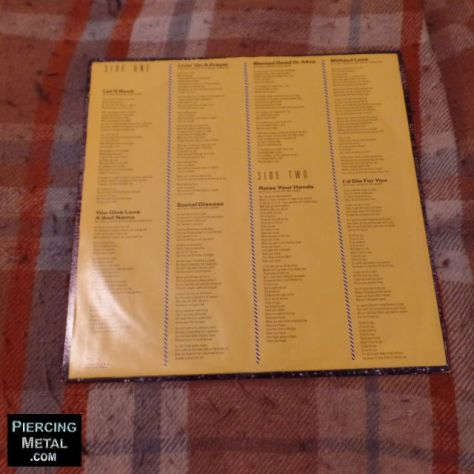bon jovi album cover, slippery when wet