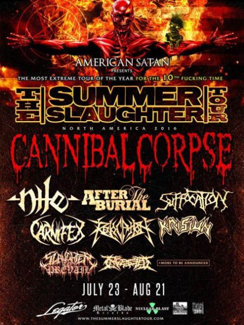 Tour - Summer Slaughter - 2016