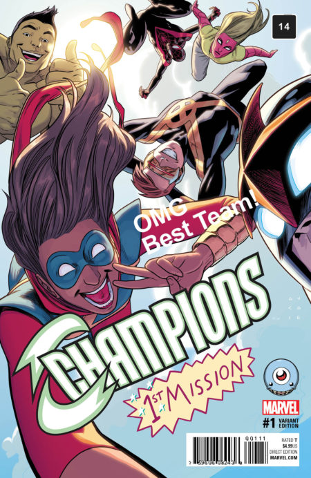 champions, retailer variant covers, marvel comics, comic book covers