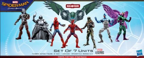 hasbro, marvel legends series, action figures, spider-man: homecoming