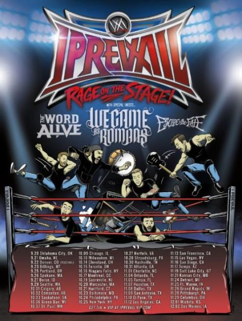i prevail, tour posters,