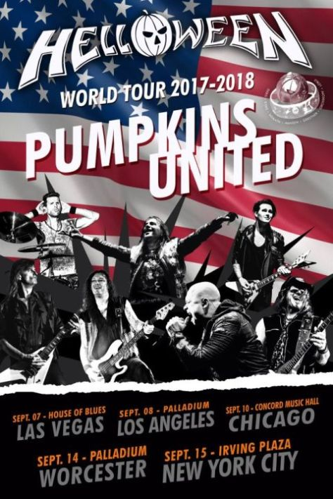 tour posters, helloween tour posters, nuclear blast records artists, helloween