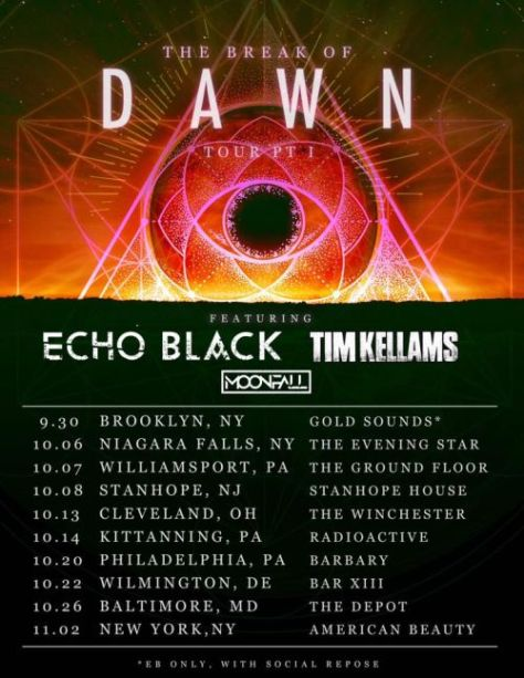 echo black, tour posters, echo black tour posters