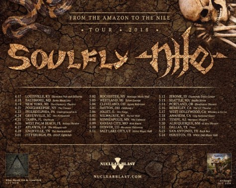 soulfly, nile, tour posters
