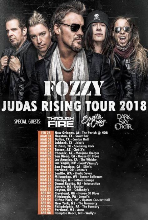 fozzy, tour posters, fozzy tour posters