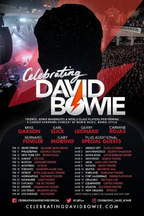 celebrating david bowie, tour posters
