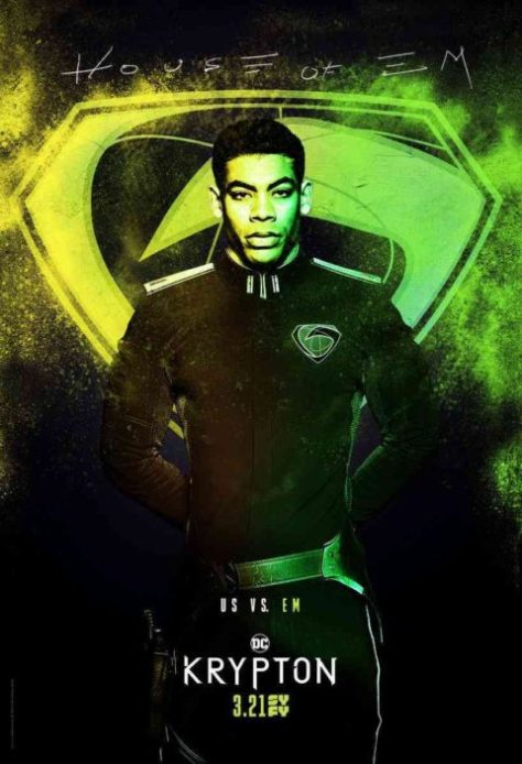 krypton, character posters, syfy network
