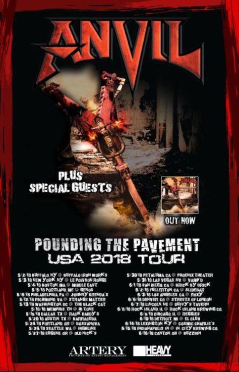 anvil, anvil tour posters, tour posters