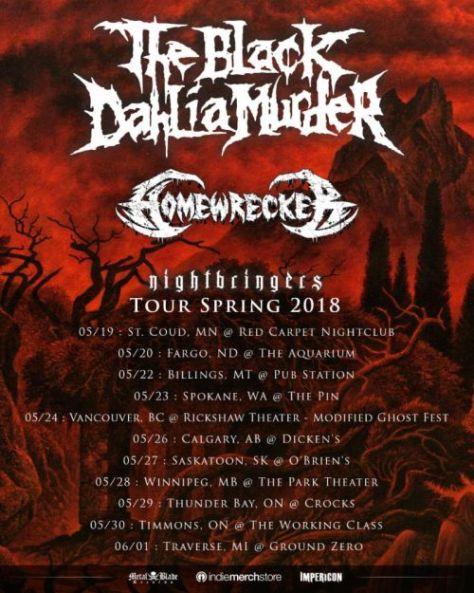 black dahlia murder, tour posters, black dahlia murder tour posters