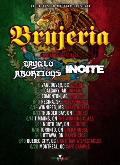 brujeria, brujeria tour posters, tour posters