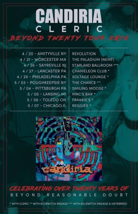 candiria, tour posters, candiria tour posters