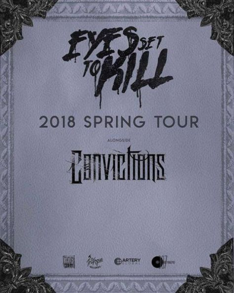 eyes set to kill, tour posters, eyes set to kill tour posters