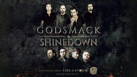 tour posters, godsmack, shinedown, godsmack tour posters, shinedown tour posters