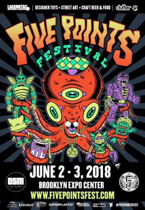five points festival poster, five points festival 2018 poster,