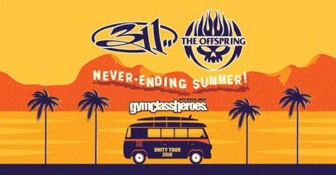 tour posters, 311, the offspring, never-ending summer tour