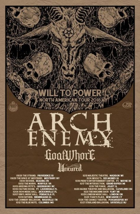tour posters, arch enemy, arch enemy tour posters