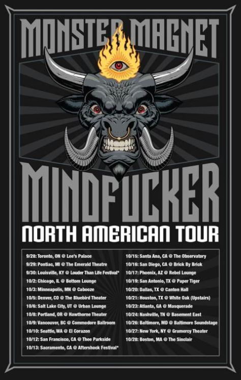 monster magnet, tour posters, monster magnet tour posters