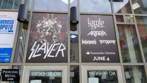 santander arena, slayer