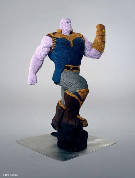 lego, thanos, lego lifesize statues
