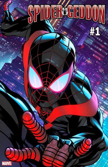 marvel comics, comic book covers, spider-geddon
